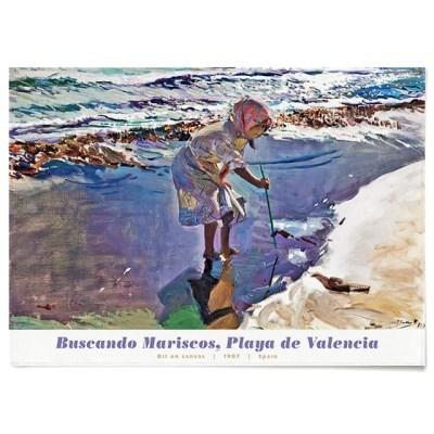 패브릭 포스터 바다 해변 파도 그림 액자 호아킨 소로야 7