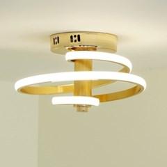 나선 골드 화이트 LED 직부 센서등 20w