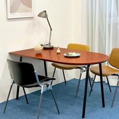 [포커스인가구] 버디 반달타원 테이블 (자작)