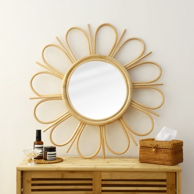 플라워 라탄 원형 거울 60cm대형_(1295884)