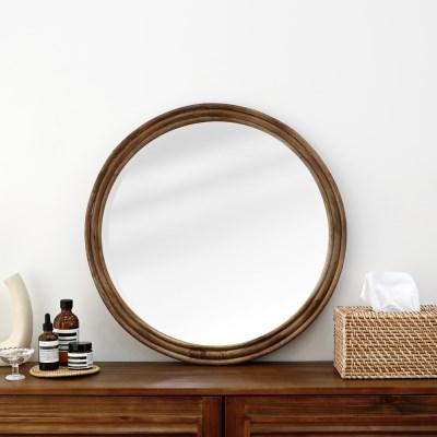 라탄 원형 거울 No3 60cm대형_(1295881)