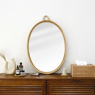 라탄 타원형 거울 No5 70cm대형_(1295879)