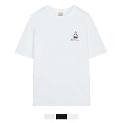 (해리포터) 웰컴 백 호그와트 모티브 티셔츠 SPRLA37C02