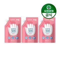 [유한양행]해피홈 핸드워시 리필 200mL 핑크포레향 3개