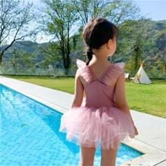 핑크프릴수영복