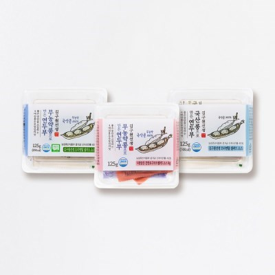 김구원선생두부 연두부 3종세트 국산콩 무농약콩