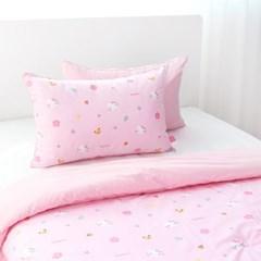 헬로키티 핑크 마이크로화이바 플라워데이 베개커버(40x60)