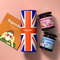 슈퍼잼 2종 원통 선물세트 무설탕 과일잼 쇼핑백포함