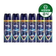 [유한양행]해피홈 모기약 수성 에어로솔 무향 550mL 6개
