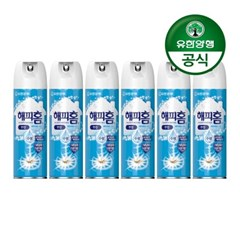 [유한양행]해피홈 모기약 수성 에어로솔 무향 350mL 6개