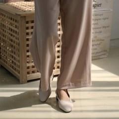 여성 여성 가죽 앞코포인트 진주 슬링백 블로퍼 DONA6786