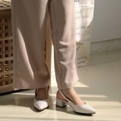 여성 여성 패브릭 스틸레토 앞코 금장포인트 슬링백힐 DONA6791