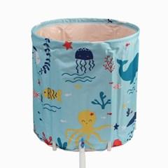 바다세계 접이식 간이욕조 /이동식 성인 가정용 목욕통