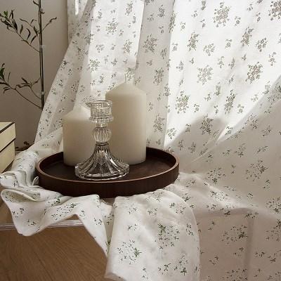 화이트 플라워 커튼라워 커튼 / 하얀꽃 창문 포인트 인테리어 커텐