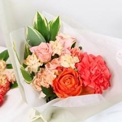 [사전주문] 사랑하는 마음 가득, 탠저린 카네이션 꽃다발 (생화)