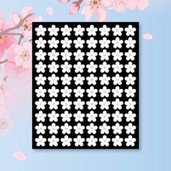 캐찹 홈스티커 20벚꽃 화이트 데코스티커