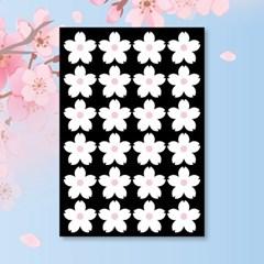 캐찹 홈스티커 40벚꽃 화이트 데코스티커