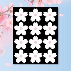 캐찹 홈스티커 60벚꽃 화이트 데코스티커