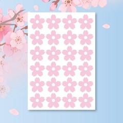 캐찹 홈스티커 40벚꽃 핑크 데코스티커