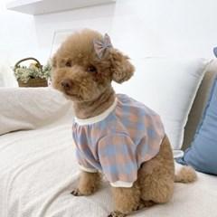 깅엄 체크 강아지맨투맨 에스펙트