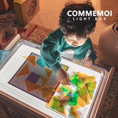 [꼬메모이]라이트박스 / 미술 빛 놀이 그림자 학습 투명 교구