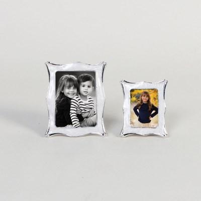 제프니-웨이브 은도금 보석 미니 초미니 사진액자 2개묶음
