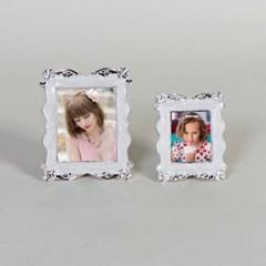 제프니-로즈 은도금 보석 미니 초미니 사진액자 2개묶음