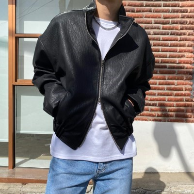 VD 고퀄리티 레트로 투웨이 가죽 레더 자켓