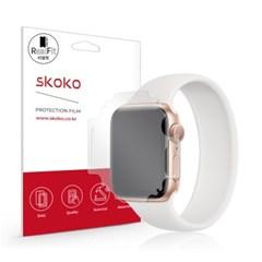 스코코 애플워치SE 40mm 풀라운드 액정보호필름 2매_(1125043)