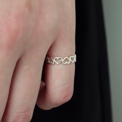 [Silver925] Heart knuckle ring_(1538193)