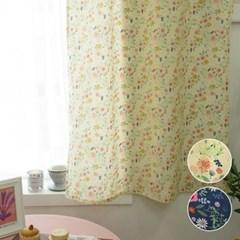 작은창가리개 커튼- 귀여운 플라워 2color