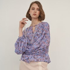 TIERED SLEEVE PAISLEY BLOUSE (2colors)