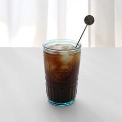 홈카페 유리컵 유리잔 로맨스 쿨러475ml 블루