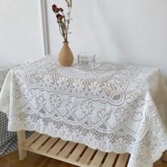 레트로 감성 플라워 레이스 식탁 책상 테이블 매트 3size