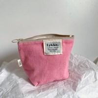 Lykke Corduroy Pouch_neon pink