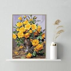노란장미 DIY명화그리기 유화그리기세트 명화색칠하기_(2560248)