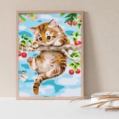 체리와 고양이 DIY명화그리기 유화그리기세트_(2560243)