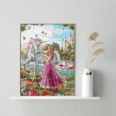 유니콘과 여인 DIY명화그리기 유화그리기세트_(2560241)