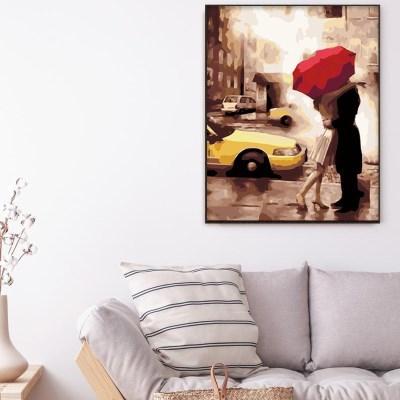 도시속 우산 커플 DIY명화그리기 유화그리기세트_(2560234)