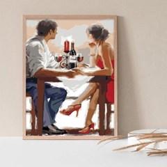 와인마시는 커플 DIY명화그리기 유화그리기세트_(2560229)