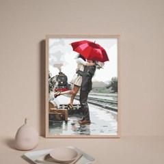 비오는날 우산속 커플 DIY명화그리기 유화그리기세트_(2560228)