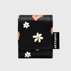 Dot flower merry-black(에어팟 레더)_(1903888)