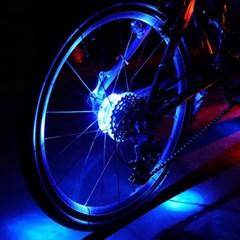 [바이크샵] LED 자전거 휠라이트 (블루/깜박이모드/건전지포함)