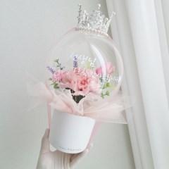 [발송일선택가능]왕관 카네이션 레터링 벌룬 용돈박스