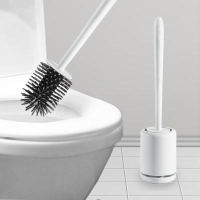 화장실 벽걸이 원형 실리콘변기솔 청소솔