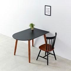 AND 1200 블랙반원 HPL 테이블 의자 세트 NE7052