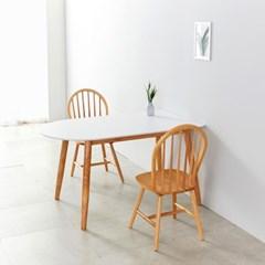 AND 1400 화이트반원 HPL 테이블 의자2 세트 NE7063
