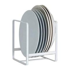 다용도 그릇정리대 접시정리대 주방정리 선반 화이트