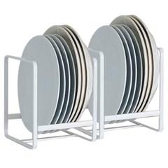 그릇꽂이 그릇정리대 주방 접시정리대 화이트 2개