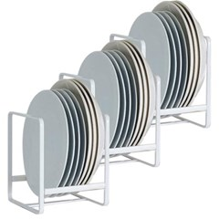 그릇꽂이 그릇정리대 주방 접시정리대 화이트 3개